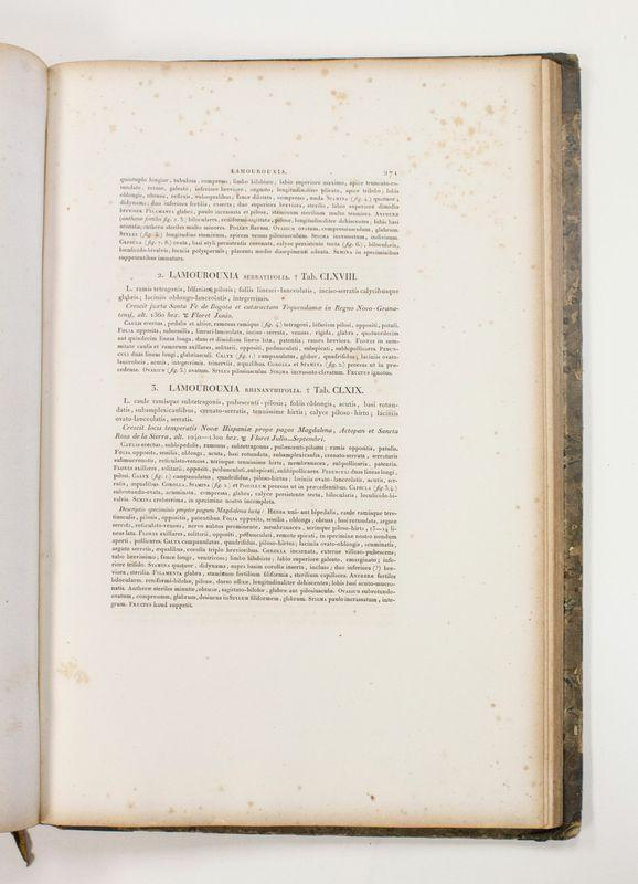 Right page of an open book is seen, three sections of text on it and wide margins.